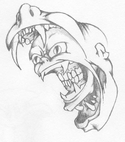 How to draw crazy faces